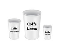 Coffee to go cup set Stock Image