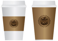 Coffee To Go Cups Illustration Stock Photography