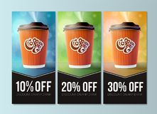 Coffee to Go Discount Concept. Vector EPS10 Royalty Free Stock Photo
