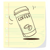Coffee To Go Doodle Royalty Free Stock Image