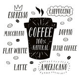 Coffee to go illustration Royalty Free Stock Image