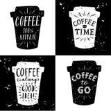 Coffee to go illustrations set Stock Photo