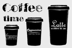 Free Coffee To Go. Latte, Cappuccino And Espresso. Royalty Free Stock Photos - 106106148