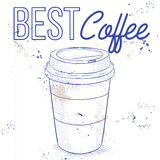 Coffee to go on a notebook page Royalty Free Stock Photo