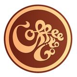 Coffee to Go Sticker Concept V2. Vector Illustration Royalty Free Stock Image