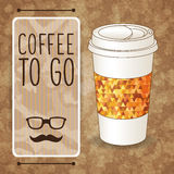 Coffee To Go. Vertical Banner With Coffee Cup Royalty Free Stock Photo