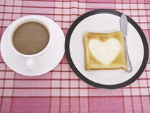 Coffee and  Toast Royalty Free Stock Image