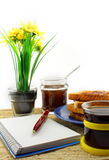Coffee toast and jam Royalty Free Stock Images