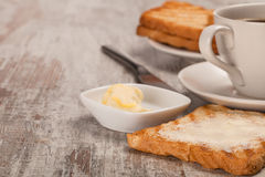Coffee with toasts Stock Image