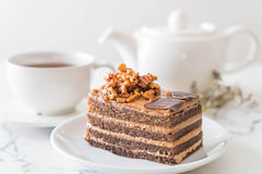 Coffee toffee cake Royalty Free Stock Photo