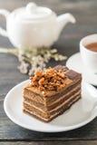 Coffee toffee cake Stock Photos