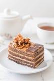 Coffee toffee cake Royalty Free Stock Photos