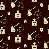Coffee tools pattern Royalty Free Stock Image