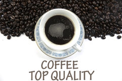 Coffee top quality sign Royalty Free Stock Image
