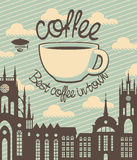 Coffee town Stock Image