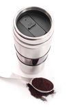 Coffee Travel Mug Royalty Free Stock Photography
