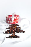 Coffee tree with Christmas box Royalty Free Stock Image