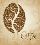 Coffee tree. Coffee bean. On brown background stock illustration