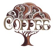 Coffee tree design Royalty Free Stock Photos
