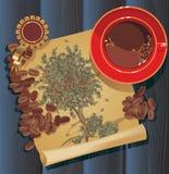 Coffee tree, graphic Stock Photo