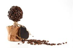 Coffee tree with heart Royalty Free Stock Photo