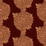 Coffee trees seamless pattern - grunge version Stock Images