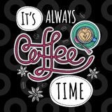 Coffee trendy vector Royalty Free Stock Images