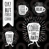 Coffee trendy vector set. Royalty Free Stock Photo