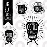 Coffee trendy vector set. Royalty Free Stock Image