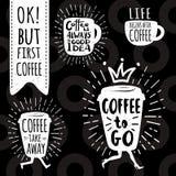 Coffee trendy vector set. Stock Photography