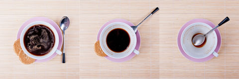Coffee triptych Stock Photography