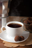 Coffee and truffles Royalty Free Stock Photo
