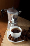 Coffee and truffles Royalty Free Stock Photos