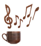 Coffee tune Stock Images