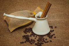 Coffee Turk and spices Stock Image