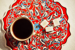 Coffee in the Turkish style Royalty Free Stock Images