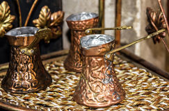 Coffee turks - traditional arabic table appointments Stock Images