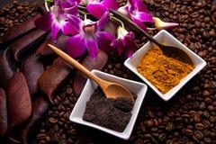 Coffee and Turmeric Scrub Stock Photos