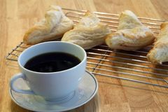 Coffee and Turnovers Stock Images