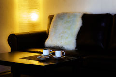 Coffee for two persons on the table Royalty Free Stock Photography