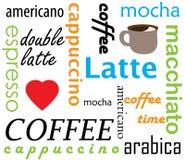 Coffee types names Stock Photos