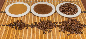 Coffee types Royalty Free Stock Images