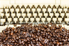 Coffee typewriter Stock Photo