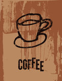 Coffee. Typographic retro poster for restaurant, cafe or coffeehouse. Vector illustration. Royalty Free Stock Image