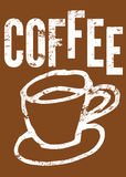 Coffee. Typographic retro poster for restaurant, cafe or coffeehouse. Vector illustration. Stock Images