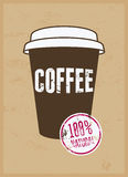Coffee typographical vintage style grunge poster. Retro vector illustration. Stock Images