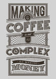 Coffee Typography illustration motivational Poster Royalty Free Stock Image