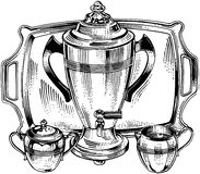 Coffee Urn And Accessories Royalty Free Stock Photos