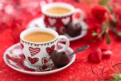Coffee for Valentine's day. Stock Image