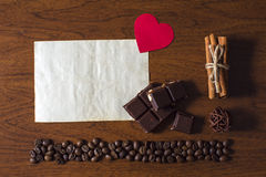 Coffee and Valentine's day. Beautiful background for Valentine's day stock photography